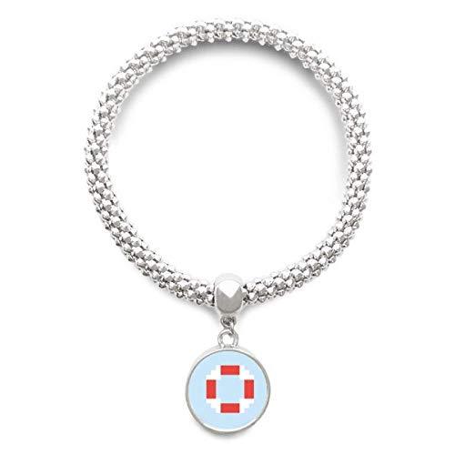DIYthinker Womens zomer zeil leven boei Pixel Sliver armband ronde hanger sieraden ketting