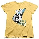 Leave It to Beaver Wholesome Family Women's T Shirt, Banana, Medium