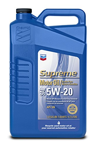 Chevron Supreme 220135474 5W-20 Motor Oil - 1.25 Gallon