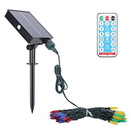 Solar Lamp, Heat-Resistant Energy Saving Solar String Light, Remote Control for Courtyards Gardens(RGB)