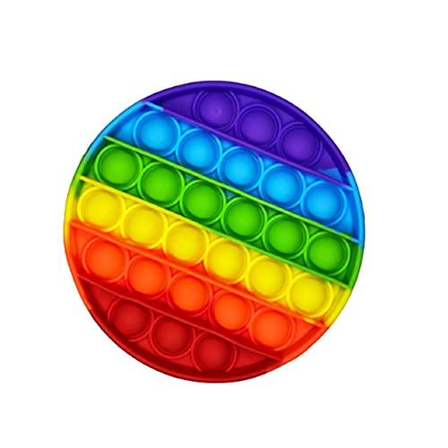 Brinquedo Pop It Fidget Colorido Anti-Stress Sensorial Importado Entrega Imediata (Redondo)
