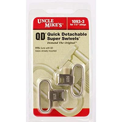 Uncle Mike's SS BL Nickel Quick Detach Sling Swivels, 1 1/4-Inch