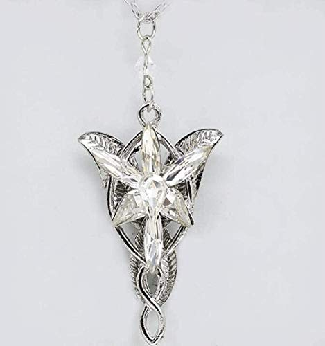 ZHIFUBA Co.,Ltd Necklace Mixed Elves Princess Crystal Arwen Twilight Star Necklace Pendant Vintage Charms Collar Choker Necklace Jewelry Women Gifts