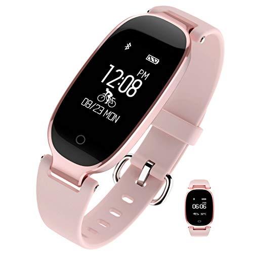 APCHY Reloj Inteligente Smartwatch,Monitores De Actividad De Pulsera Deportiva Multifuncional para Estudiantes,Podómetro,Monitor De Frecuencia Cardíaca Y Sueño,Contador De Pasos De Calorías,B