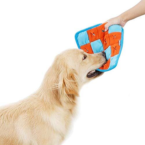 CEXWZQ Haustier Hund Schnüffel Matte Hund Puzzle Spielzeug Haustier Snack Fütterungsmatte Langweilig Interaktives Spiel Training Decke Schnupftabak Fütterung Trainingsmatte
