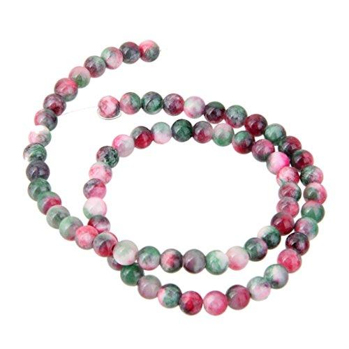 6 mm Arc-en-Ciel Couleur Perles Rondes Agate Courroie Apprêt pour la Confection de Bijoux 68 pcs