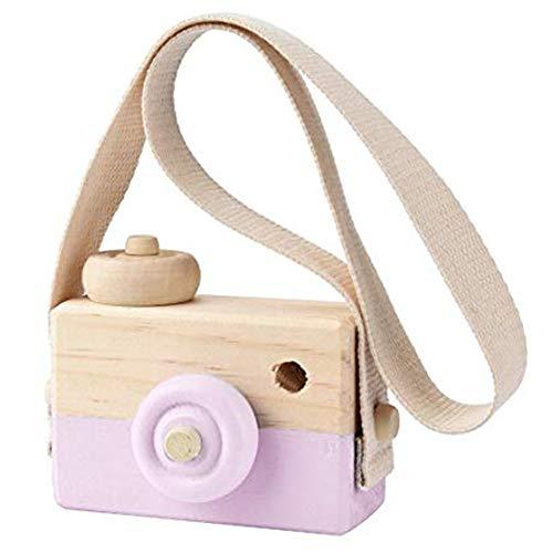Delleu Holz Mini Spielzeug Kamera Kinder Baby Kreative Hals Hängen Seil Spielzeug Fotografie Prop Geschenk
