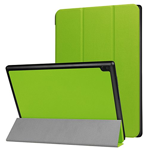 Yobby Case for Lenovo TAB4 10 TB-X304F/304N,Leather Folio Smart Cover with Auto Wake/Sleep,Multiple Viewing Angles Stand [Corner Protection] Cover for Lenovo TAB4 10 TB-X304F/304N-Green