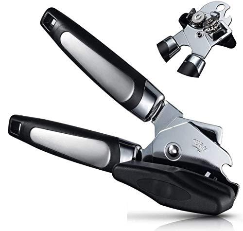 Apribottiglie, manuale con impugnatura ergonomica e antiscivolo, in acciaio inox di grado alimentare multifunzione, ideale per anziani con artrite
