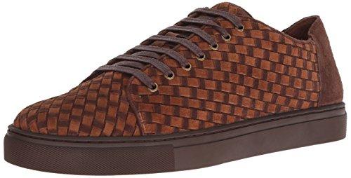 Donald J Pliner Men's Alto Sneaker, Chocolate, 10 M US