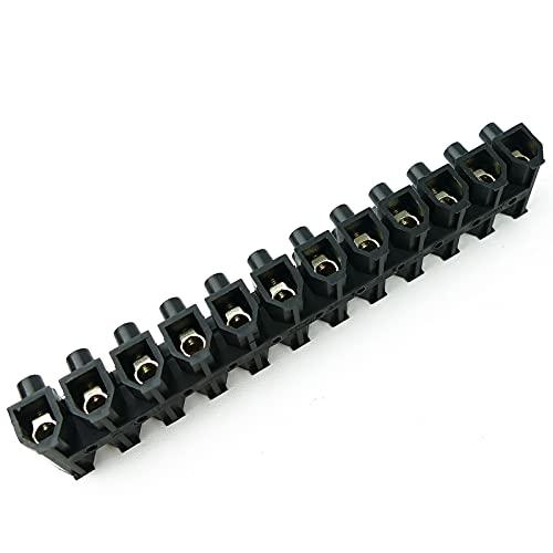 BeMatik - Regleta de conexión de cables eléctricos de sección 16mm negra