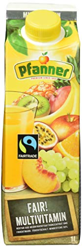 Pfanner Fairtrade Multivitamin Nektar 50%, 8 x 1 l Packung