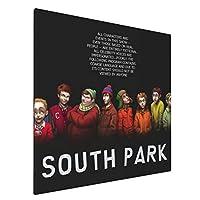 サウスパーク South Park アートデリ ポスター パネル 絵キャンバスの壁アート 木製の枠 アートワーク 壁飾り 壁ポスター おしゃれ 50*50cm 玄関やリビング お祝いや贈り物に 雰囲気 癒し