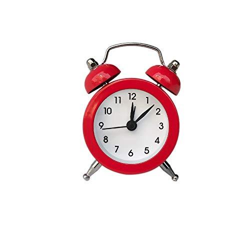 JJZST Reloj Despertador Mini Reloj Despertador Creativo Campana de Viaje Reloj de Escritorio analógico con Campana Herramientas para Acampar al Aire Libre Pequeño