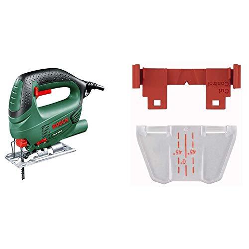 Bosch PST 650 Seghetto Alternativo Compact Easy, Nero/Green + Bosch 2609256981 - Guida di taglio per seghetto alternativo Bosch PST700E, 800PEL, 900PEL