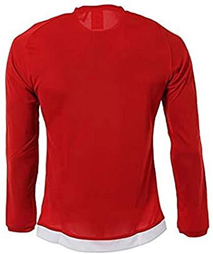 adidas Estro 15 JSY L - Camiseta para hombre, color rojo / blanco, talla 140