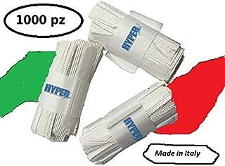 Hyperform - BIS cuchillo Tenedor cubiertos con una servilleta de plástico blanco - (500 piezas)