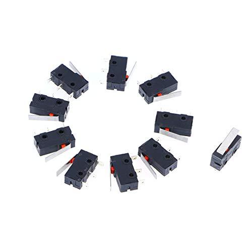 WINOMO Premium-125V AC 5 Ampere SPDT 1NC 1NO kurzen geraden Scharnier Hebel Mini Mikro Schalter - 10 Stück