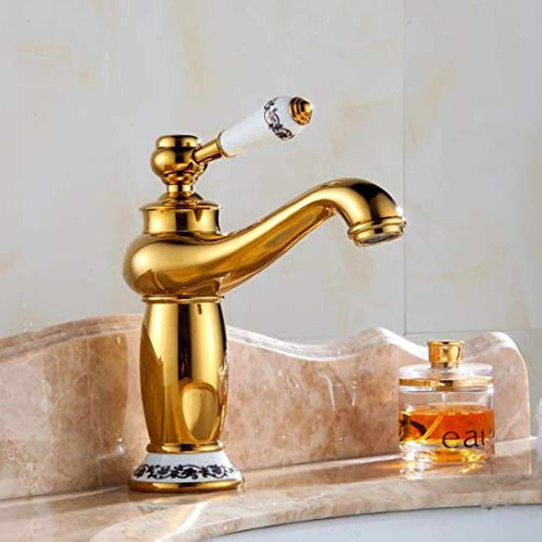 Decorry Antique Brass Bathroom Faucet European Black Solid Cold Basin Faucet Basin Faucet Kitchen Faucet Bathroom Accessories,gold