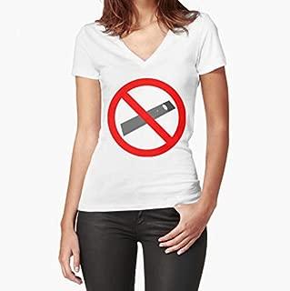 No Juuls Fitted VNeck TShirt, Short Sleeves Shirt, Unisex Hoodie, Sweatshirt For Mens Womens Ladies Kids