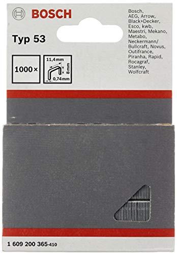 Bosch 1609200365 1000 Stk. Tackerklammern 8/11,4 mm Typ53 (Klammer für Handtacker)