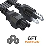 3 Prong 6 Ft LG TV Power Cord,AC Laptop Power Cord Cable for Dell IBM HP ASUS Toshiba Lenovo Acer Gateway Notebook,Universal Mickey Mouse Connector Power Cord,NEMA 5-15P to IEC-320-C5