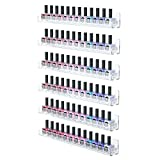 wall acrylic nail polish rack - FEMELI Nail Polish Wall Rack 6 Shelves,Clear Acrylic Nail Polish Holder Organizer for 66-90 Bottles