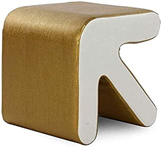 Footstool Faux Leather Pouffes,Creative Arrow Foot Rest With Sponge Filling Step Stool For Livingroom Bedroom Shoe Bench