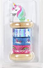 Unicorn Washi Tape - 3 Rolls on a Decorative Wood Spool