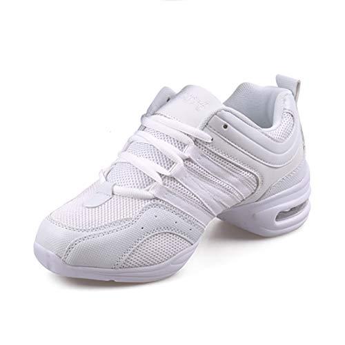 GYUANLAI Zapatos De Baile para Mujer Zapatos Deportivos Zapatos Modernos De Jazz Suela Antideslizante De PU Cómoda Malla Acoplamiento con Cordones Zapatillas De Deporte Ligeras
