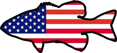 Graves imán–imán para frigorífico Largemouth nevera Imán–regalo perfecto de pescador de graves–bandera estadounidense–fabricado en los Estados Unidos