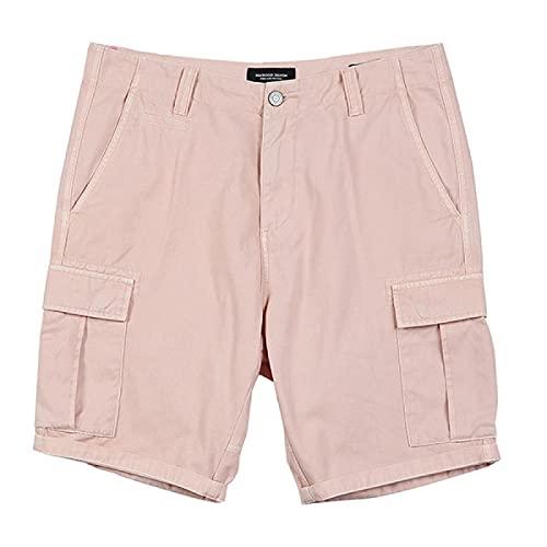 ShSnnwrl Pantaloncini da Uomo Summer New Cargo Shorts Uomo Colore Slim Fit Lavaggio Maschile Vintage Short Fashion Alta qualità Hip Hop Abbigliamento 30 Rosa
