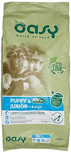 Oasy Alimento Secco per Cane Puppy & Junior Large 12Kg-Mangimi Secchi per Cani, Multicolore, Unica