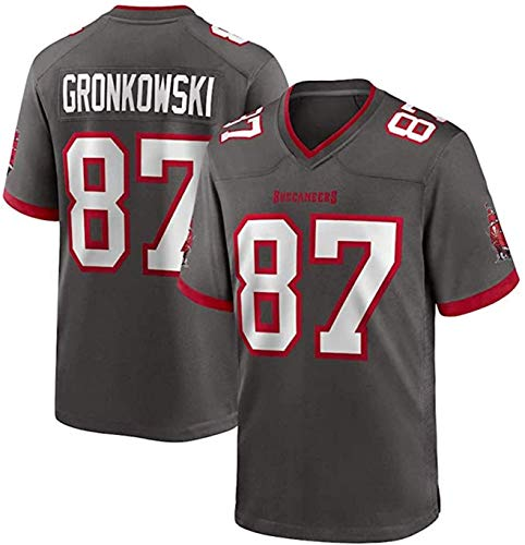 Rob Gronkowski Jersey, Buccaneers # 87 American Football Hemd, Stickereiversion, Männer, Frauen, Kinder Fan Version T-Shirt 2021 Tribut Limited Jersey (Color : Green, Size : S)