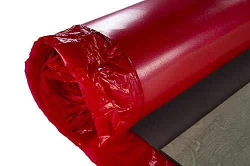 20qm Nostra Trittschalldämmung 1,5mm Stärke - Unterlage perfekt geeignet für Vinylböden, integrierte Dampfbremse, elastisches und widerstandsfähiges Material - NostraSonic