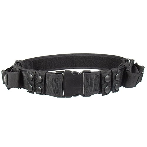 UTG Pistolengürtel Haevy Duty Elite Law Enforcement Pistol Belt - Funda de Airsoft, Color Negro
