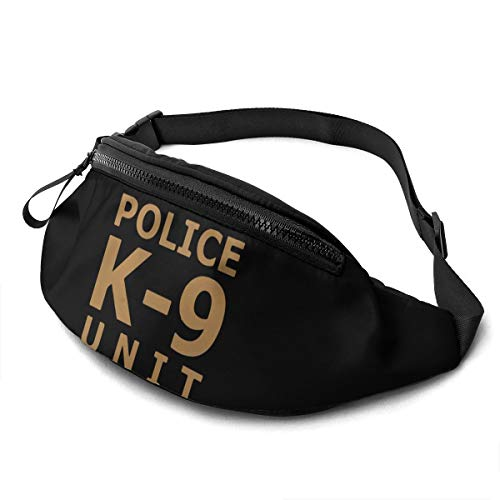 Police K9 Unit Large Fanny Pack Sports Belt Waist Pack Shoulder Bag Bum Bag Hip Sack For Hiking Running Traveling Rave