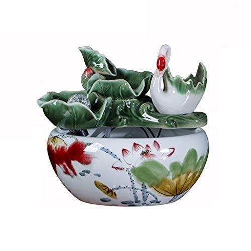 Liudan Aquariophilie/Petit Aquarium Réservoir de Poissons en céramique à la Main créatif Aquarium Fontaine d