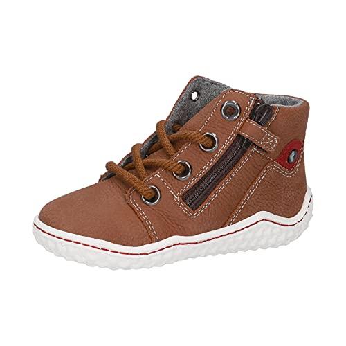 RICOSTA Jungen Halbschuhe FABI, Weite: Mittel (WMS),Barfuß-Schuh,Sportschuhe,schnürschuhe,high,top,Sneaker,mid,nugat (264),30 EU / 11.5 Child UK