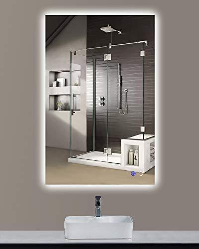 "Keonjinn 24"" x 36"" LED Backlit Mirror Bathroom Vanity Mirror Wall Mounted -"