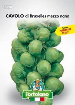 Sementi orticole di qualità l'ortolano in busta termosaldata (160 varietà) (CAVOLO DI BRUXELLES MEZZO NANO)