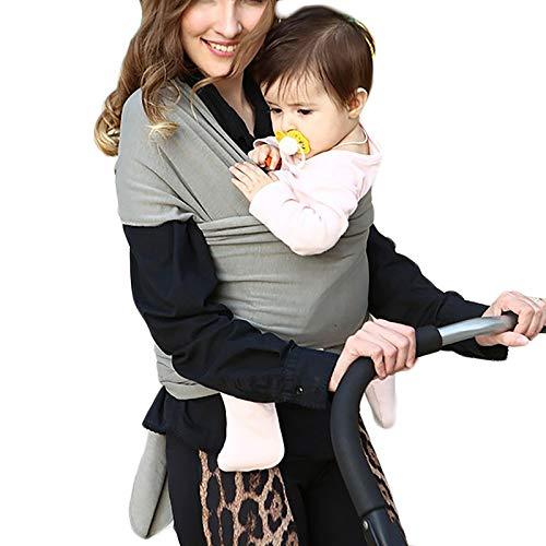 G&F Portabebés Frente Recién Nacido Manos Libres Abrigo De Bebé Algodón Talla Única Desde Nacimiento hasta 20 Kg (Color : Light Gray)
