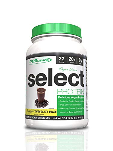 PEScience Select Vegan Protein Powder, Vanilla Indulgence, 27 Serving (2 Pack), Premium Pea and Brown Rice Protein Blend