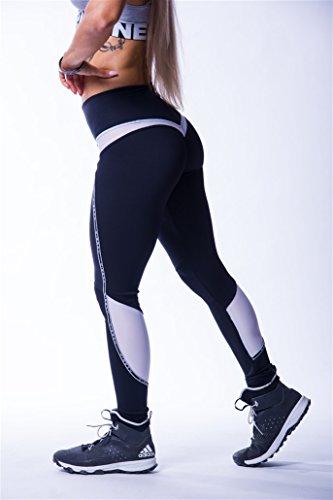 Nebbia Women's B07DQLMDMD Dames V-Butt Leggings 605 Fitness, Broeken, Pants, Aerobic (zwart, M)