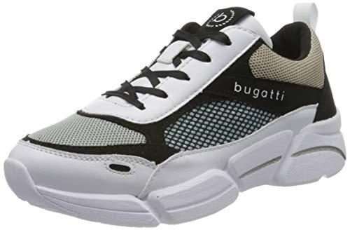 bugatti Damen 432668035055 Sneaker, Weiß (White/Black 2010), 38 EU