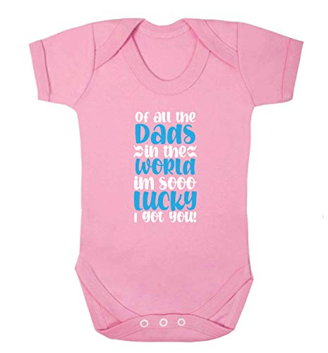 Flox Creative Baby Vest of All The Dads in The World Lucky I Got You T-shirt pour bébé - Rose - XS