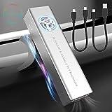 Rocketek Adaptador de Caja M.2 NVME y SATA SSD con Ventilador RGB, USB C 3.1 Gen 2 10Gbps a NVME PCI-E y SATA NGFF Unidad de Estado sólido,para M.2 M Key y B + M Key, para SSD 2230/2242/2260/2280 SSD