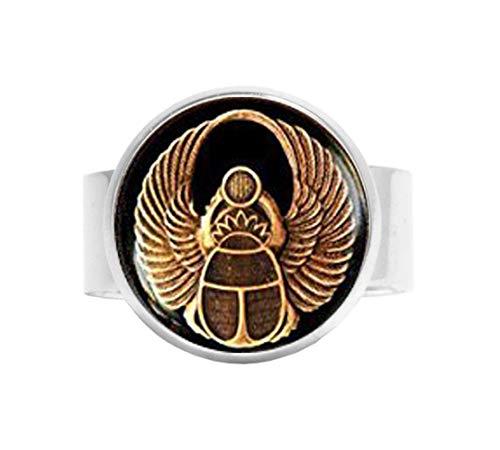 HE PING Ägyptischer Skarabäus Ring, Skarabäus Ring, Antiker Ägyptischer Ring, Herrenring