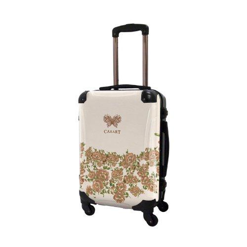 [キャラート] アート スーツケース プロフィトロール フラワー フレーム4輪 機内持込 S 保証付 31L 57 cm 3.2kg コハク