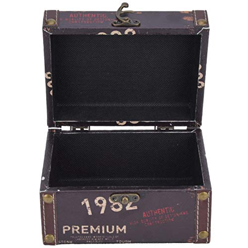Tamaño grande, caja de almacenamiento, madera, caja de almacenamiento vintage, pulido de superficie lisa, para collar para pulsera(Model 2208A-03-1982, blue)
